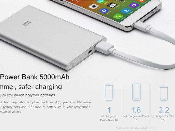Baterija Xiaomi Mi Power Bank 2 5000mAh